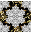 black colors with golden elements golden pattern vector image