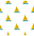 blue boat pattern seamless vector image vector image