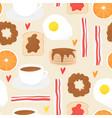 breakfast concept brunch vector image vector image