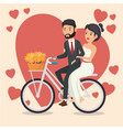 bride and groom design vector image