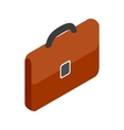 Brown business briefcase icon isometric 3d style vector image vector image