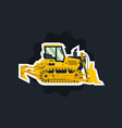 bulldozer tracked vehicles tractor the object vector image vector image