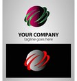 Business abstract template design global vector image vector image