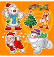 christmas elements orange vector image vector image