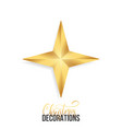 christmas star shiny gold realistic star vector image vector image