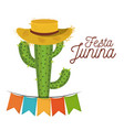 colorful poster festa junina with white background vector image vector image