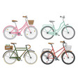 configurations of city street bicycles vector image