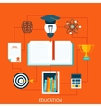 Consept of educational set tools vector image