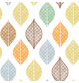 cute fall leaf seamless pattern abstract vector image