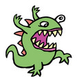 danger cartoon mad germ vector image vector image