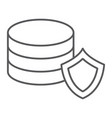 data protection thin line icon privacy and vector image vector image