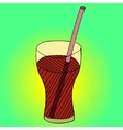 Drink Pop art vector image vector image