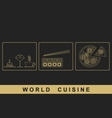 European Japanese Italian cuisine vector image vector image