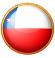 flag of chile on round badge vector image vector image