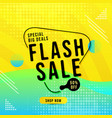 flash sale modern design banner media social vector image vector image