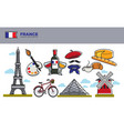 france travel destination banner with national vector image vector image