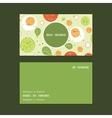 fresh salad vertical round frame pattern vector image vector image