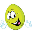 funny green easter egg smiling vector image vector image