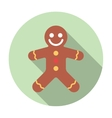 Gingerbread Flat Icon vector image vector image