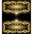 golden ornament and stars vector image vector image