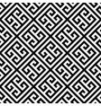 greek key seamless pattern background in black and vector image