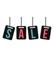 Hanging sale tags icon flat style vector image