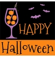 Happy Halloween invitation or greeting card vector image vector image