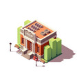 isometric library building vector image