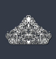 laser cutting in shape of royal crown floral in vector image vector image