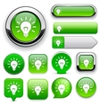 Light bulb high-detailed web button collection vector | Price: 1 Credit (USD $1)