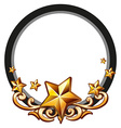 Logo design with golden stars vector image vector image