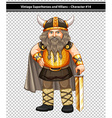 Male viking vector image vector image