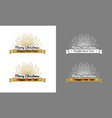 merry christmas decorative ribbon with sunburst vector image vector image