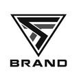 modern triangle creative initial logo concept vector image vector image