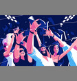 noisy funny crowd vector image vector image