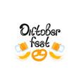 oktoberfest mug of beer pretzel - national vector image