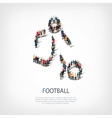 people sports football vector image vector image
