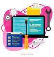 programming concept trendy bright ameoba vector image vector image