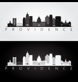 Providence usa skyline and landmarks silhouette