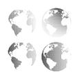 raster globes set vector image