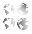 raster globes set vector image vector image