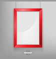 red photo frame mockup vector image