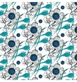 Repeating Modern Floral Background Pattern vector image vector image