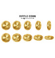 ripple coin 3d gold coins set realistic vector image vector image