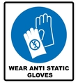 Safety sign Hand protection must be worn vector image vector image