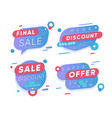 sale discount stickers final sale and super offer vector image