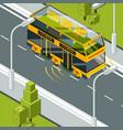 self driving car autonomous vehicle at road vector image