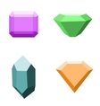 set 4 different gemstones diamonds isolated vector image