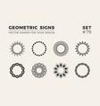 set eight minimalistic trendy shapes stylish vector image vector image