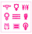 set of feminist symbols vector image vector image